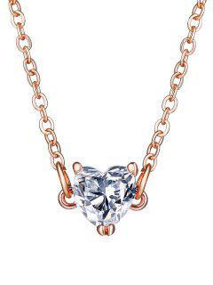 Elegante Collar De Diamantes De Imitación De Corazón - Cerveza