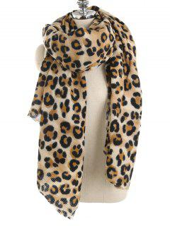 Statement Leopard Printed Shawl Scarf - Leopard One Szie