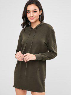 Front Pocket Hoodie Dress - Moccasin L