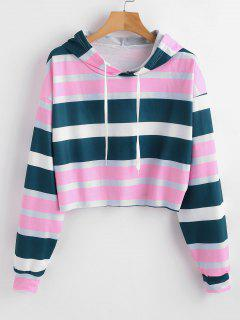 Colorful Striped Pullover Hoodie - Multi M