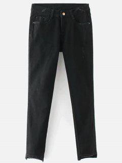 Mid Rise Skinny Jeans - Black L