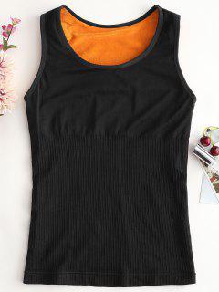 Fleece Long Underwear Thermal Tank Top - Black L