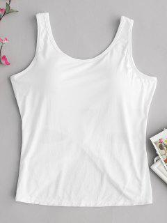 Camiseta Sin Mangas Con Espalda Cruzada Acolchada - Blanco