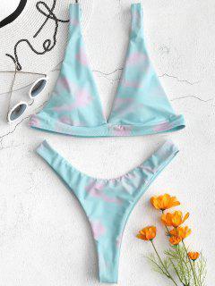ZAFUL Plunge - Bikini Mit Bindebändern Und Bindebändern - Elektrisches Blau L