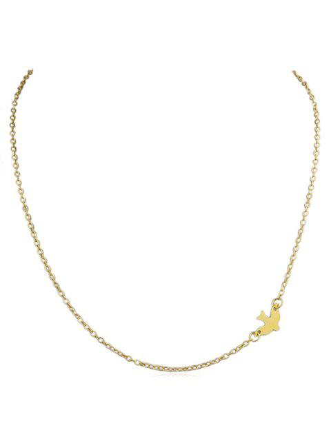 unique Tiny Bird Decoration Chain Necklace - GOLD  Mobile