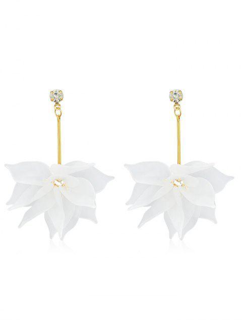 Boucles d'oreilles en strass à motif floral - Blanc  Mobile
