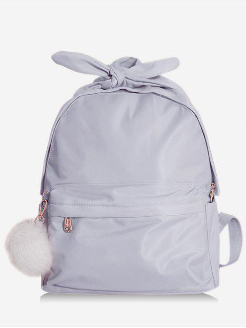 Bowknot Top Handle Solid School Sac à dos - Bleu-gris  Mobile
