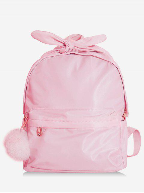 hot Bowknot Top Handle Solid School Backpack - PINK  Mobile