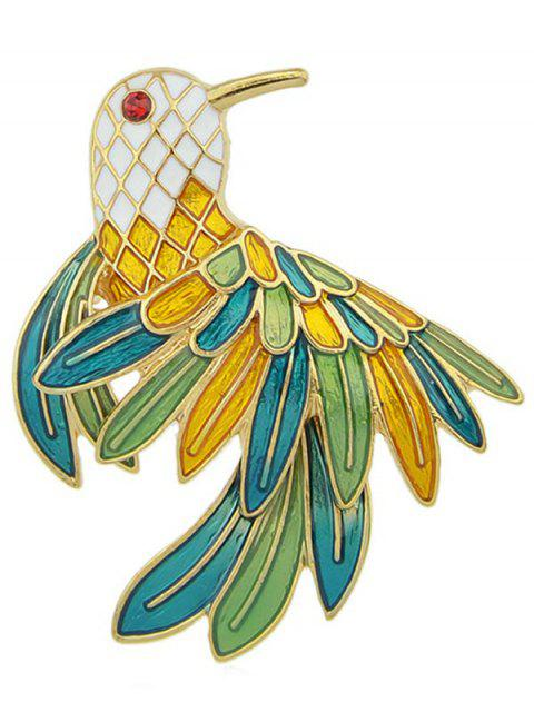trendy Parrot Enamel Brooch - GOLD  Mobile
