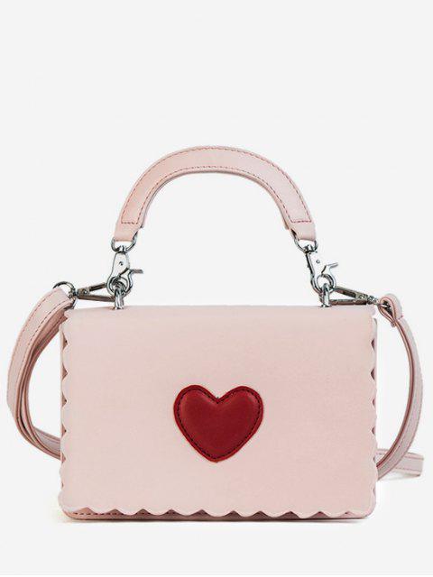 Herz PU Leder Umhängetasche - Rosa  Mobile