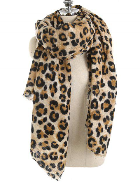 Écharpe châle à imprimé léopard - Léopard Taille Unique Mobile