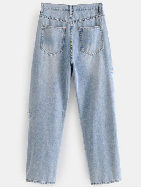 Recortar los pantalones vaqueros rasgados - Azul de Jeans  L Mobile