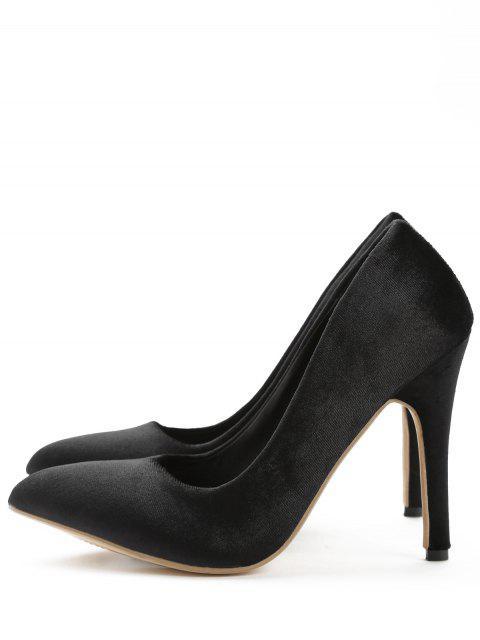 fashion ZAFUL Pointed Toe High Heel Basic Pumps - BLACK 37 Mobile