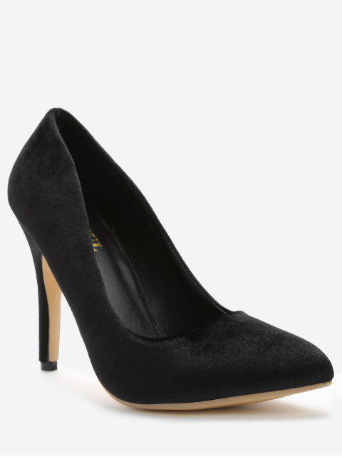 women ZAFUL Pointed Toe High Heel Pumps - BLACK 38 Mobile