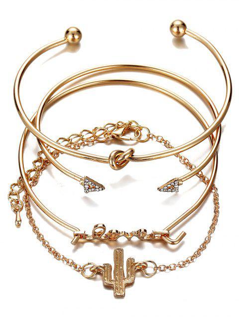 Alte Strass- Pfeil- Liebe- Legierung-Armband -Set - Gold  Mobile