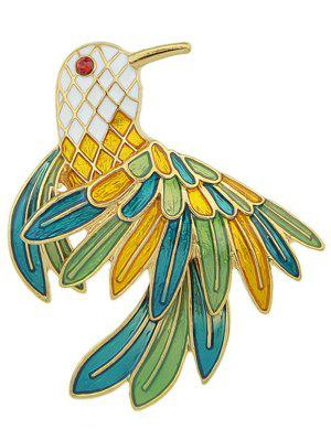 Papagei Emaille Brosche