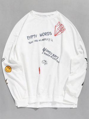 Buchstabe-Druck-Grafik-Pullover-Sweatshirt