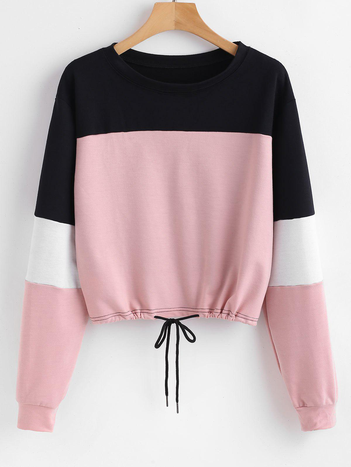 Pullover Color Block Sweatshirt