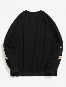 Letter Graphic Negro Print 2xl Sudadera Pullover ggrOxwWn