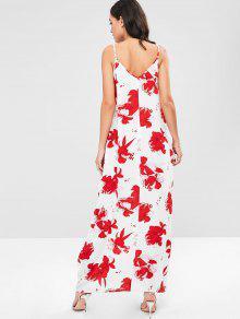 De Cami Con ZAFUL Multicolor Flores Vestido Estampado S Boho Largo t4w1Xx