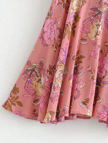 Line Vestido Mini Rosado S Floral A vqgxKwqt1H