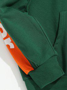 Side Mar Verde Hoodie Mediana Contraste Taped Letter L Stripe XT1RqrX