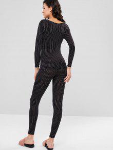 95ba43cc2 العربية ZAFUL | أسود طقم ملابس داخلية حرارية مطبوعة طويلة 2019 [47% OFF]