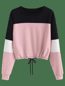 S Block Color Sweatshirt Pullover Multi fqYaIT