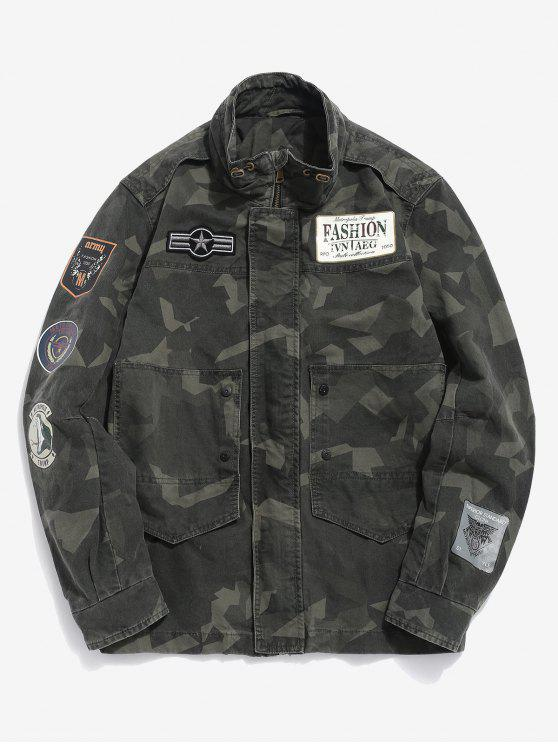2512541228729 38% OFF] 2019 Camo Jacket With Badges In ACU CAMOUFLAGE | ZAFUL