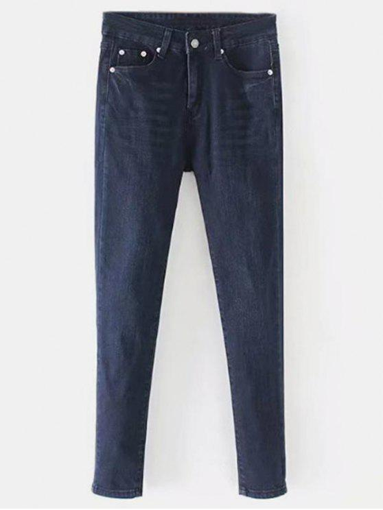 Gerade Dark Wash Jeans - Denim Dunkelblau M