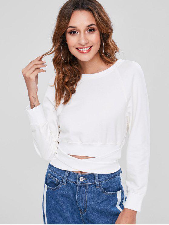 Sweat-shirt Court Noué - Blanc M