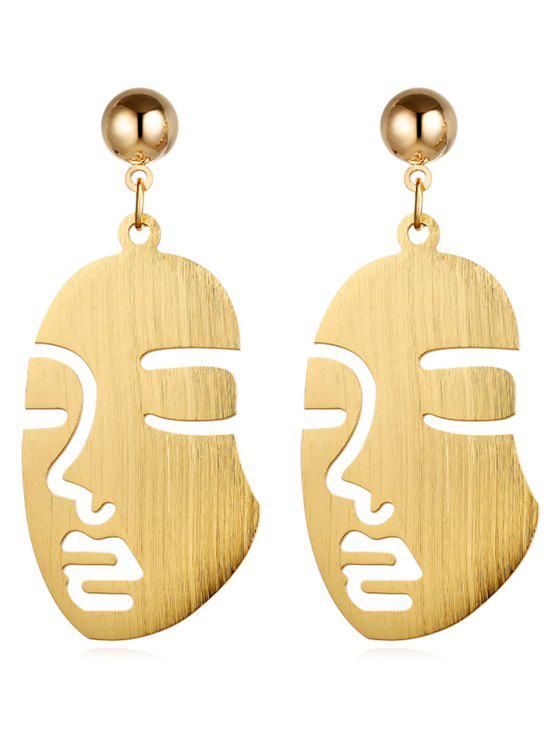 new Punk Human Face Alloy Drop Earrings - GOLD