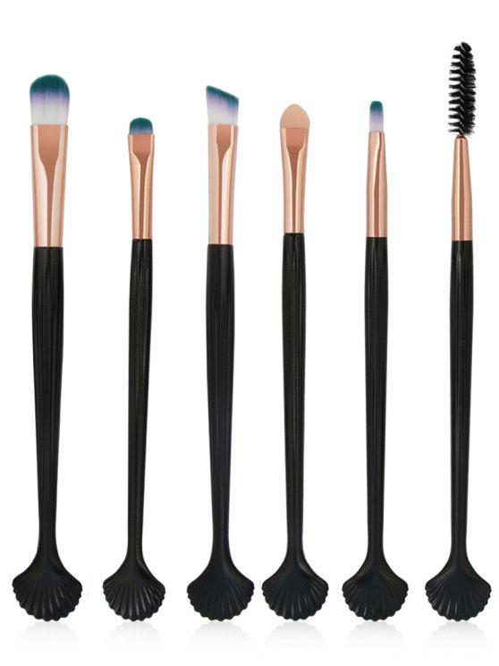 women's 6Pcs Shell Shaped Eyeshadow Eyebrow Blending Cosmetic Brush Suit - ROSE GOLD
