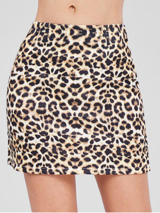 hot Leopard Mini Skirt - LEOPARD S