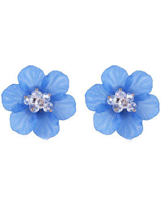 affordable Elegant Floral Stud Earrings - SKY BLUE