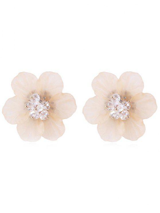 women's Elegant Floral Stud Earrings - DESERT SAND