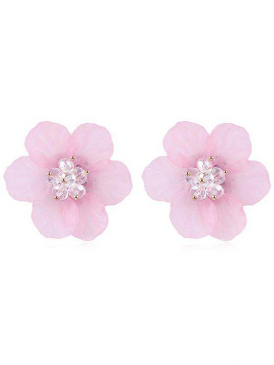 Elegante Blumenohrstecker - Helles Rosa