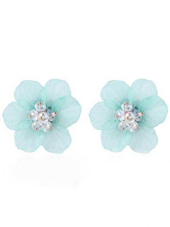 unique Elegant Floral Stud Earrings - LIGHT CYAN