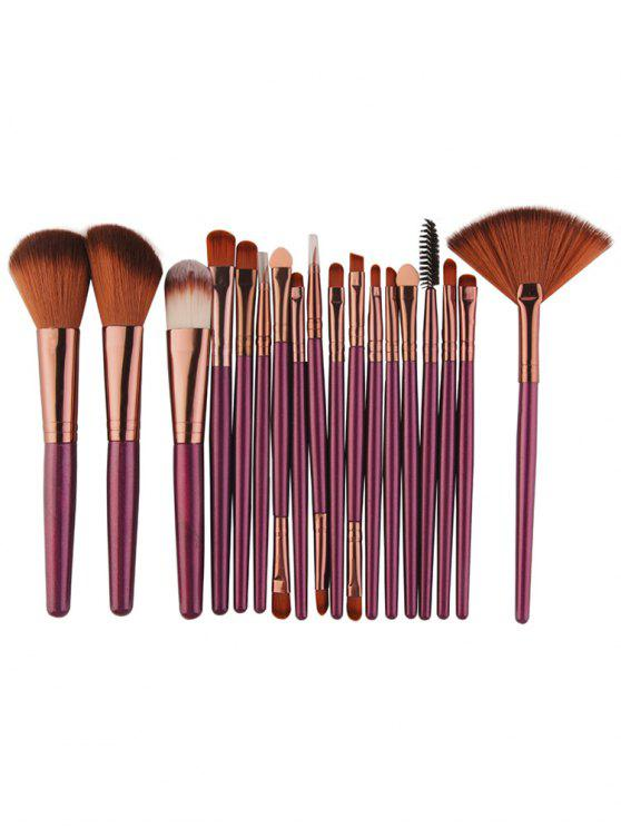 lady Professional 18Pcs Ultra Soft Silky Cosmetic Brush Suit - PURPLE JAM