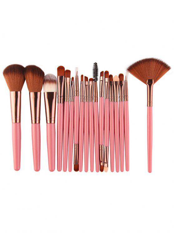 online Professional 18Pcs Ultra Soft Silky Cosmetic Brush Suit - LIGHT PINK