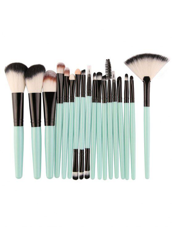 hot Professional 18Pcs Ultra Soft Silky Cosmetic Brush Suit - LIGHT SLATE