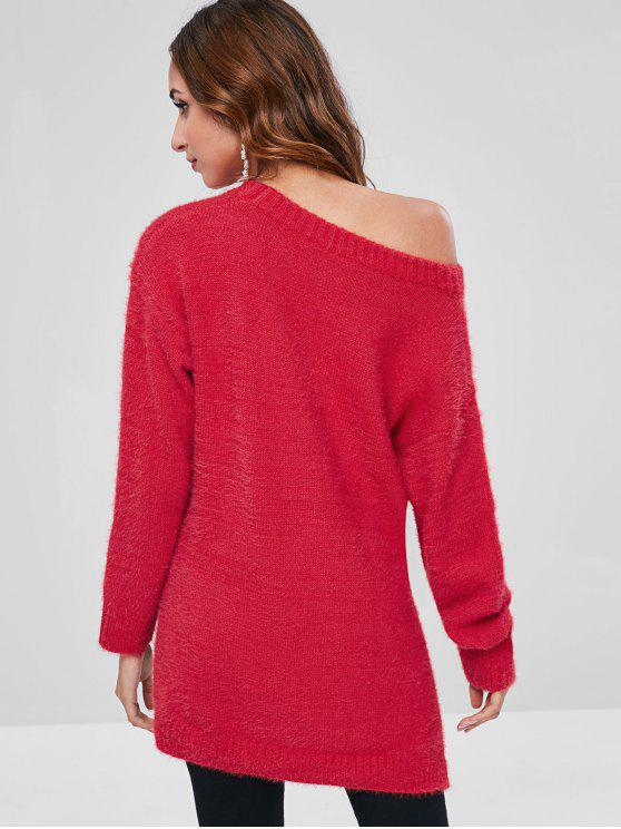 Fendu Tunique Bas Amour VeloutéRouge Pull Haut SzLpjUMVGq