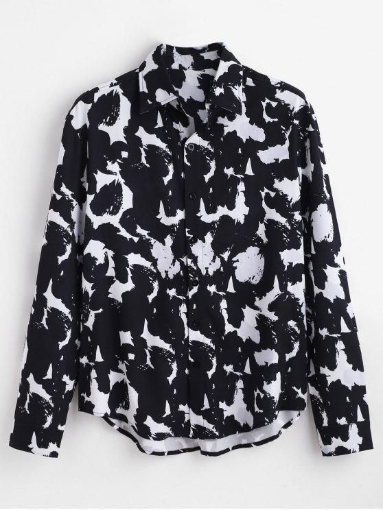 ZAFUL All Over Printed قميص كاجوال - أبيض 2XL