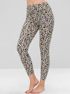 Leopard Print Soft Ankle Leggings - Leopard