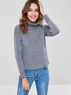 Thick Turtleneck Sweater - Gray L