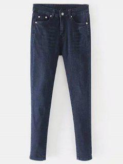 Straight Dark Wash Jeans - Denim Dark Blue L