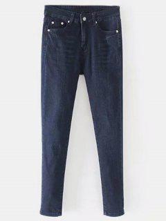 Straight Dark Wash Jeans - Denim Dark Blue M