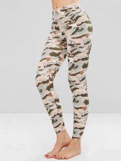 Camo Print Soft Tights Leggings - Acu Camouflage