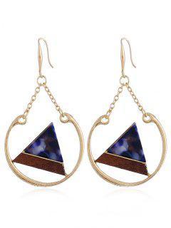 Triángulo Forma Geométrica Drop Hook Earrings - Oro