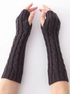Infinity Crochet Knitted Arm Warmers - Gray Dolphin